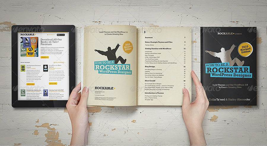 مجموعه موکاپ کتاب و تبلت