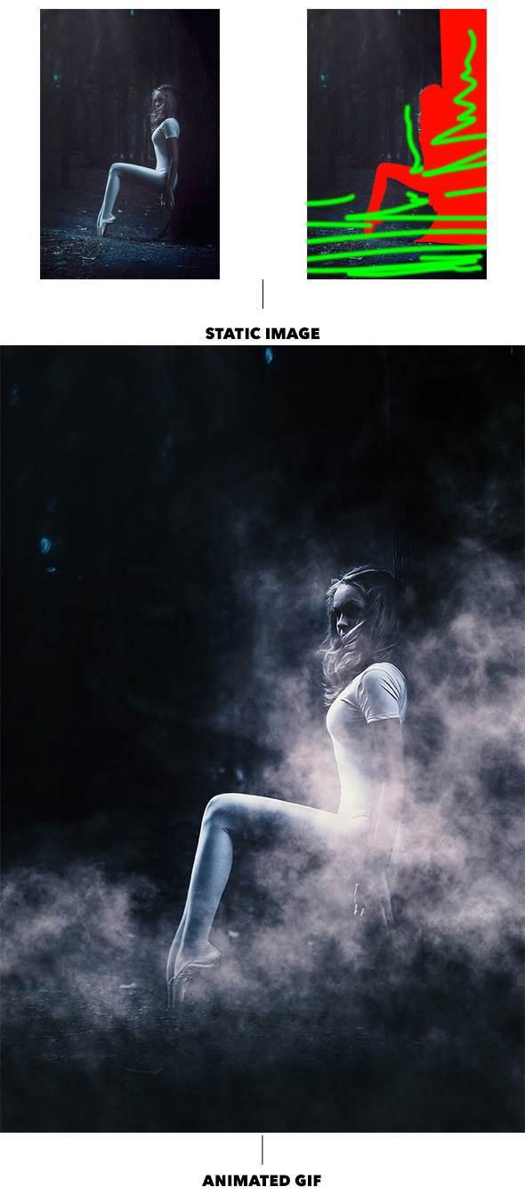 اکشن Gif ابر و مه متحرک