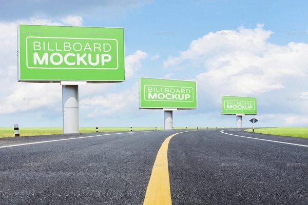 موکاپ بیلبورد و تابلوی تبلیغاتی بزرگ