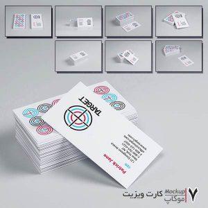کارت ویزیت با مقوای سفید